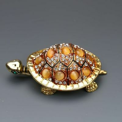 Chinese Cloisonne Hand-carved Longevity turtle statues G146