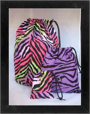 Gymnastics Leotard Grip Bags / Multi Zebra SET Gymnast Birthday Goody Bag