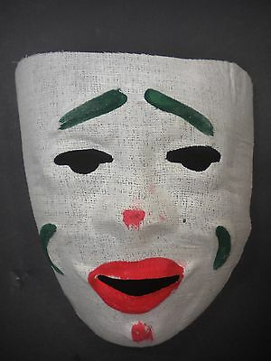 Vintage Halloween Mask $12.00 Mid Century Hand Painted Gauze Unused Cond