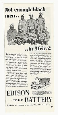 Vintage African American Black Gold Miners 1939 Photo AD