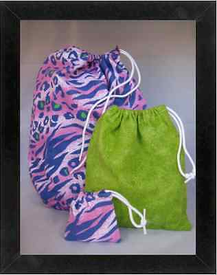 Gymnastics Leotard Grip Bags / Purple Animal Bag SET Gymnast Birthday Goody Bag