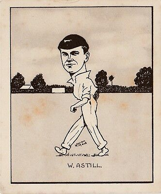 CARICATURES OF FAMOUS CRICKETERS - Hill - Astill