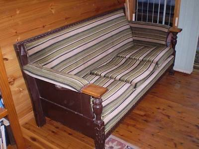Vintage Antique Retro Couch Lounge Arm Chairs - Brilliant Set