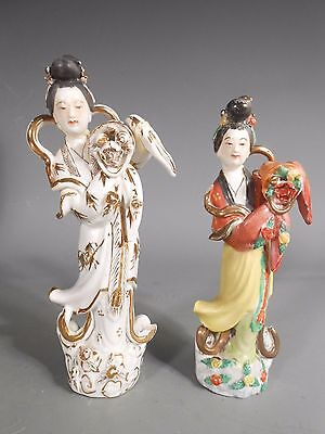Lot 2 Antique China Chinese White Porcelain Kwan Guan Yin Porcelain Statues #2