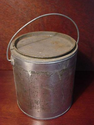 "Old Industrial 6"" Metal Paint Bucket Vintage Garden Art Planter Steampunk Pail"
