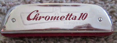 Vintage Collectible Chrometta 10 Hohner Harmonica Made in Germany Original Box