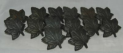 14 Leaf Shape Pull Knobs/Hardware for Dressers, Cabinet Doors or Drawers
