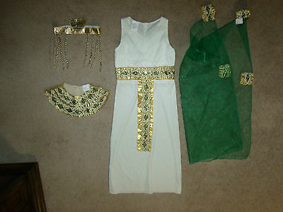 Cleopatra 4-Piece Girl's Size M Halloween Costume Guc