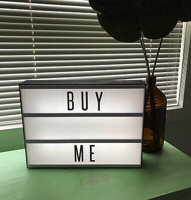 TYPO A4 Light Box - Brown Wooden Finish (Comes With Letters)