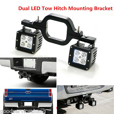 Dual LED Tow Hitch Mounting Bracket Back-up Reverse Search for For JEEP Off-Road