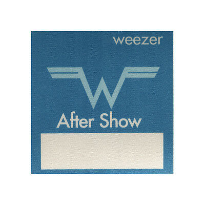 Weezer authentic Aftershow 1990's tour Backstage Pass