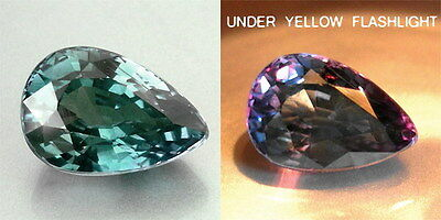 0.65cts. AWESOME NATURAL CROWN ALEXANDRITE PEAR LOOSE GEMSTONE