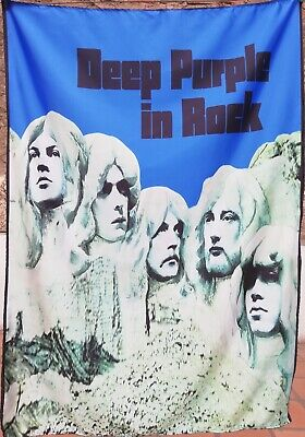 DEEP PURPLE In Rock FLAG CLOTH POSTER WALL TAPESTRY BANNER CD LP Hard Rock
