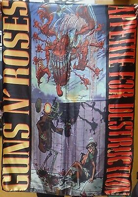 GUNS N' ROSES Appetite for Destruction 2 FLAG BANNER CLOTH POSTER WALL TAPESTRY