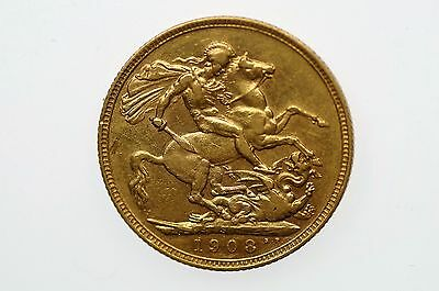 1908 Sydney Mint Gold Full Sovereign in Very Fine Condition