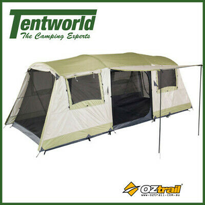 OZtrail Bungalow 9 Man / Person Dome Fast Frame Camping Tent