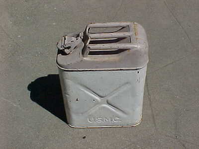 RARE WW2 Marine Corps USMC 1943 Dated Navy Gray & White Jerry Can / Gas Can USN