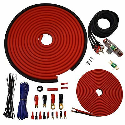 Oversize 4 Gauge Amp Install Wiring Kit 4 AWG Amplifier Installation Cable 100A