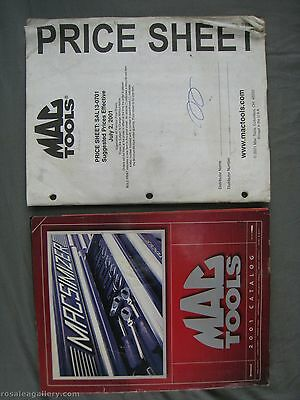 2001 MAC Tools Catalog & Price Sheet-Dirty