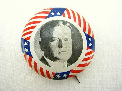 Hoover Presidential Button - Reproduction 1972