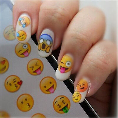 Nail Art Water Transfer Decal  Various Expression Design Tips