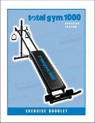 Total Gym Exercise Booklet /Manual - PDF FORMAT - NO SHIPPING - NO WAIT