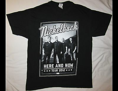 NICKELBACK Here & Now 2012 Tour Adult Size Large Black T-Shirt