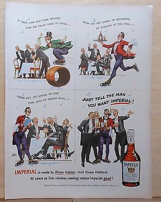 1950 magazine ad for Imperial Whiskey - barbershop quartet, Albert Dorne artwork