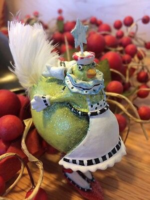 Dept 56 Christmas Krinkles by Patience Brewster HEN WITH STAR Ornament NIB