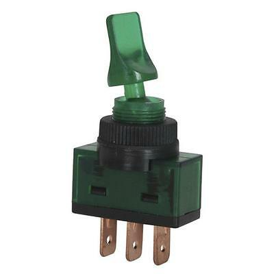 12VDC 10A SPST Illuminated Toggle Switch Green ST0582