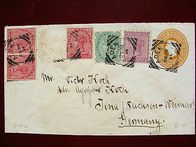 India 1894 used in Aden cover to Germany