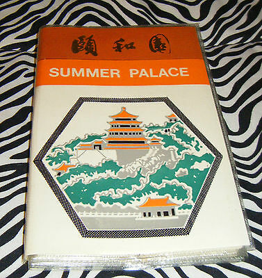 Vintage SUMMER PALACE Souvenir 24 Slide Book Beijing China English & Chinese