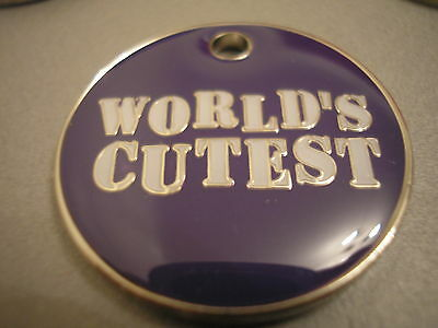 Personalised Engraved Comical Pet Id Tag -World's Cutest- Free P&p & Engraving