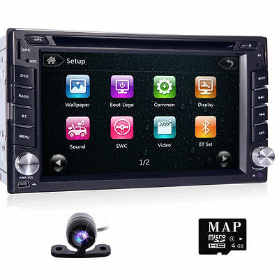 Sony CD Lens GPS+Cam-Double 2Din In Dash Car Stereo DVD Player Radio BT iPod