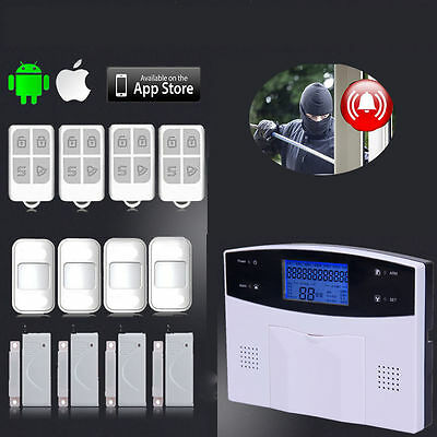 Wireless Lcd Autodial Gsm Sms Home House Office Security Burglar Intruder Alarm