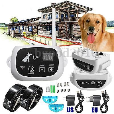 Latest Pet Electronic Wireless Remote Control Training 2 Dogs Fence System