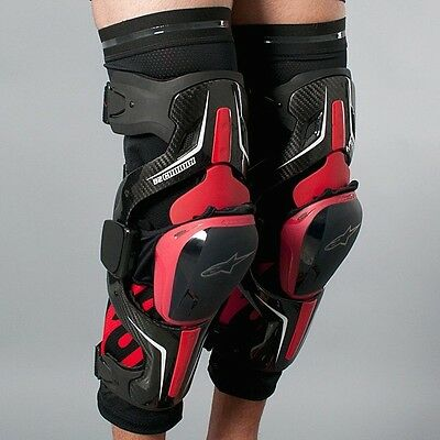 Alpinestars B2 Carbon Knee Braces. Size large. Pair -Left And Right