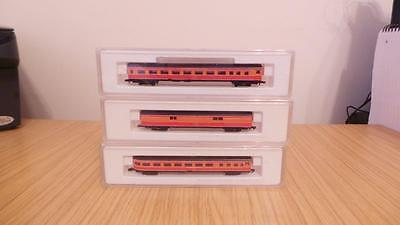E254: Marklin 'Z' Gauge 8784, 8788 & 8789 Southern Pacific Daylight Coaches -Exc