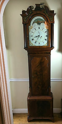 Beautiful Early 19Th Century Moonphase Grandfather Clock
