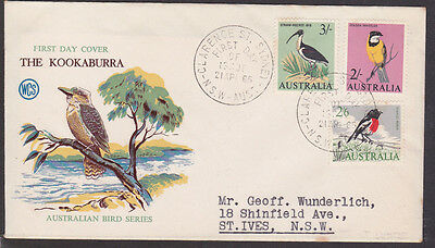 1965 3/- IBIS, 2/- WHISTLER AND 2/6d ROBIN  STAMPS FDC