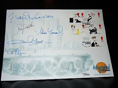 1998 British Comedians Benham First Day Cover SIGNED by 5 Greats French,Carson