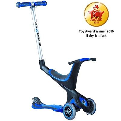 Globber 5 in 1 Push Scooter + Ride On Buggy Blue  (1-3 years)