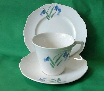 Staffordshire Trio Made in England Bluebell Pattern Cup Saucer Plate