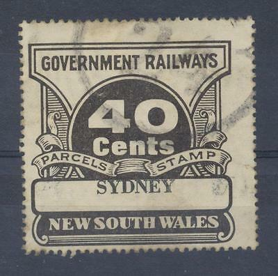 NSW 40 cents SYDNEY Railway Parcels Stamp used