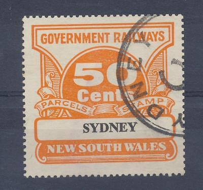 NSW 50 cents SYDNEY Railway Parcels Stamp used