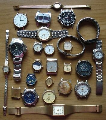 Joblot of 25 x Ladies and Gents Wristwatches (Spares only)
