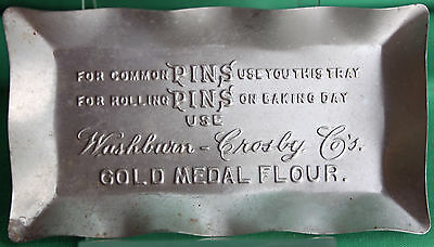 Gold Medal Flour Advertising Promotional Washburn Crosby Pin Tray Est 1910 #R