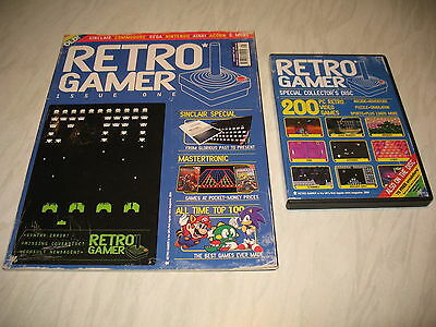 Retro Gamer magazine # 1 1st issue 1 vintage retro + cover disc cd not reprint