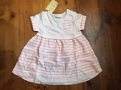 Next Pink and White Dress, 3-6 Months, New With Tags