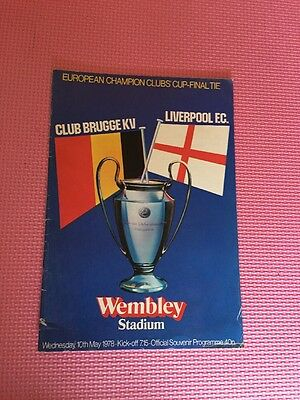 European Champion Clubs Cup Final 1978 Club Brugge Kv Vs Liverpool Fc Programme